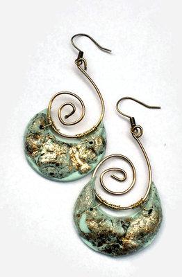 Etnic gold roman earrings