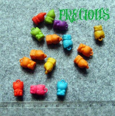 3 pz charm Hello Kitty acrilico