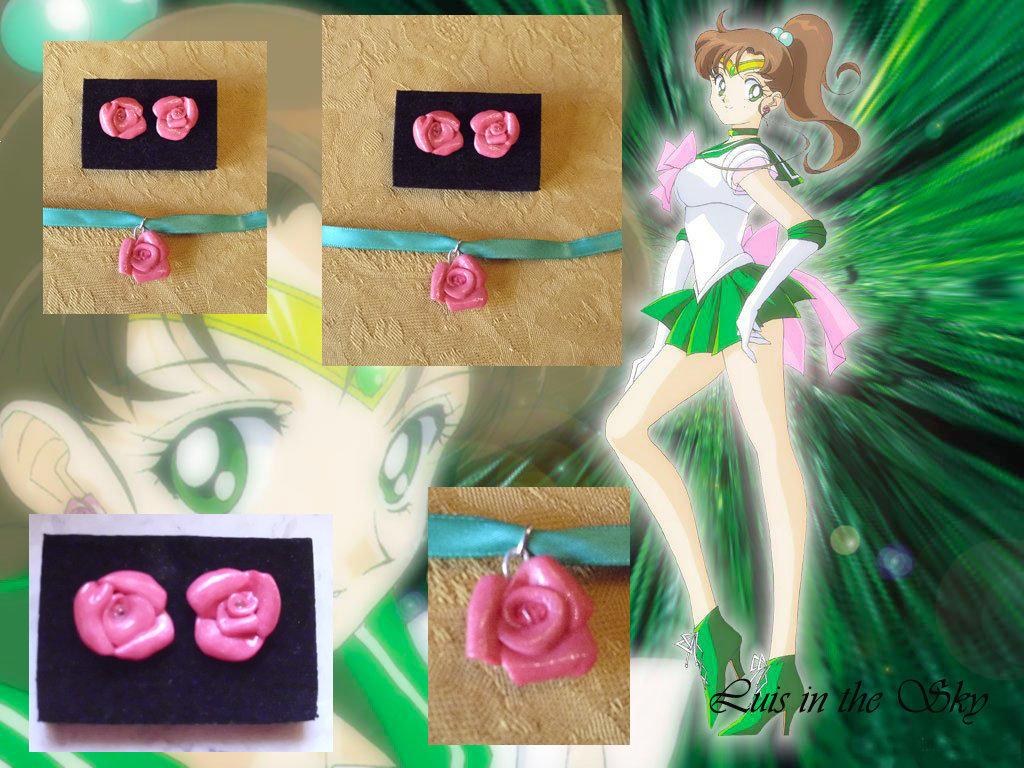 offerta orecchini e collarino Sailor Jupiter