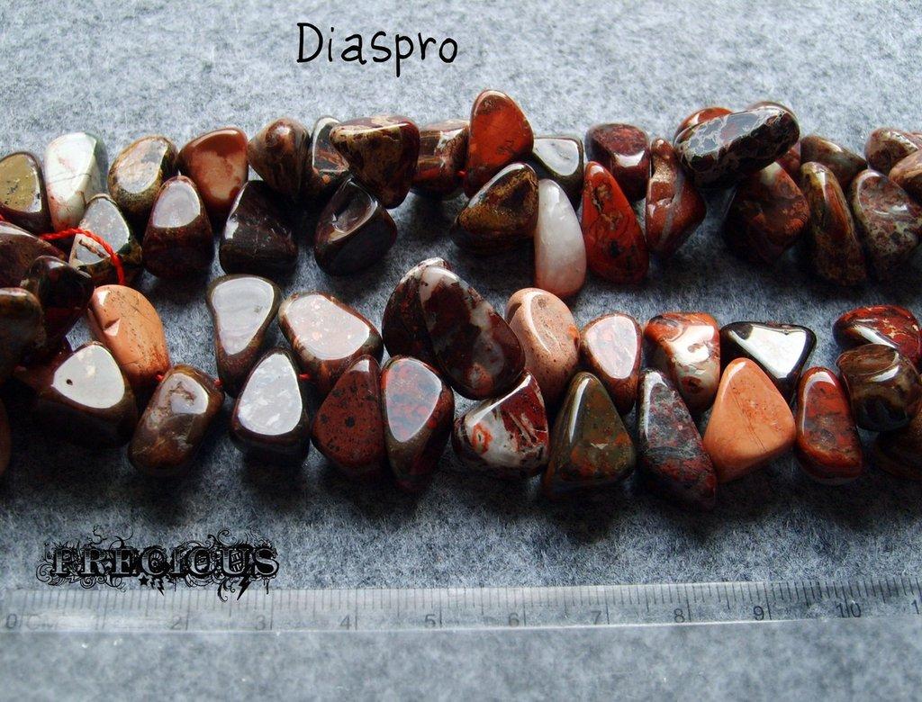 4 pz perle a goccia diaspro