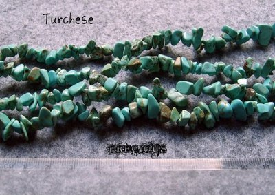 1 strand chips turchese