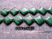 2 perle quadrate malachite