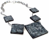 Strange & creased squares necklace