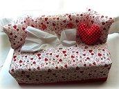 Divanetto porta kleenex- sofà portafazzoletti cuoricini