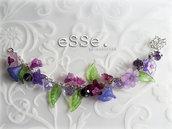 Bracciale fiori purple