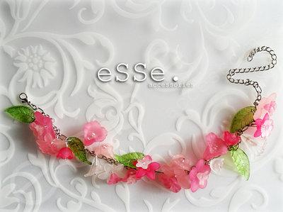 Bracciale fiori rosa