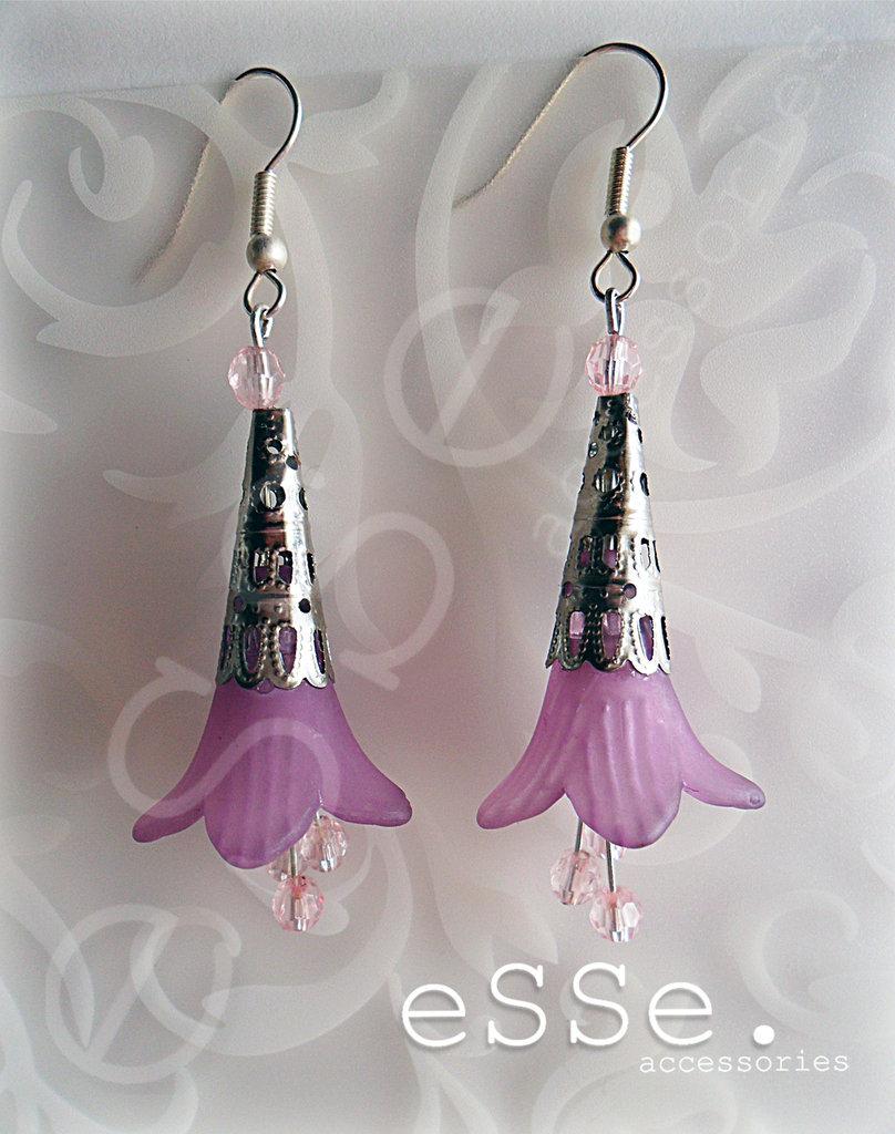 Orecchini fiori purple
