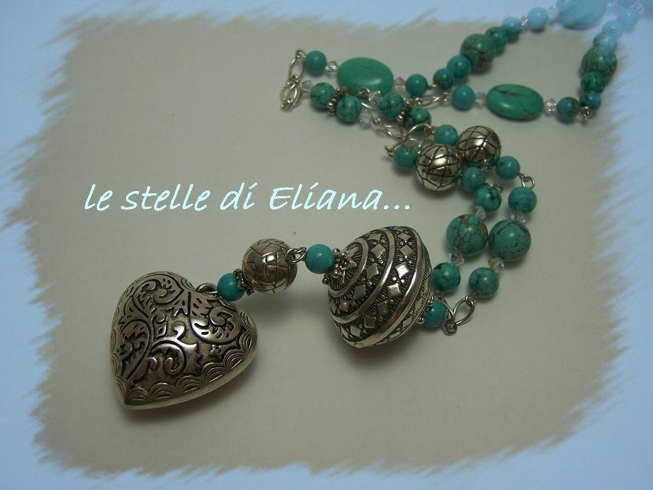 collana Di cuore e d'azzurro