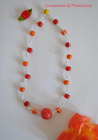 Collana con perla fiorata