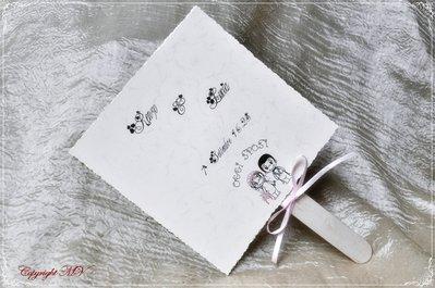 """Ventaglio per matrimonio quadrato collezione """"Love is.."""" - matrimoni estivi"""