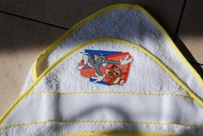 Accappatoio triangolo neonato - Tom & Jerry giallo