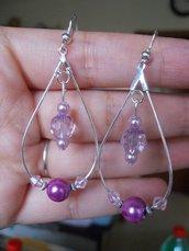 orecchini chandelier a goccia