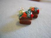 orecchini torta di frutta