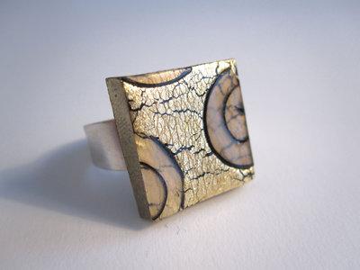 Anello foglia oro