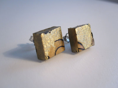 Orecchini foglia oro