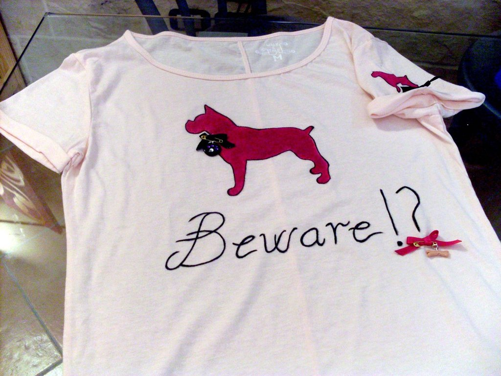 T-Shirt dipinta e decorata a mano