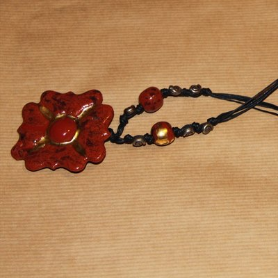 """Collana """"fiore rosso"""""""