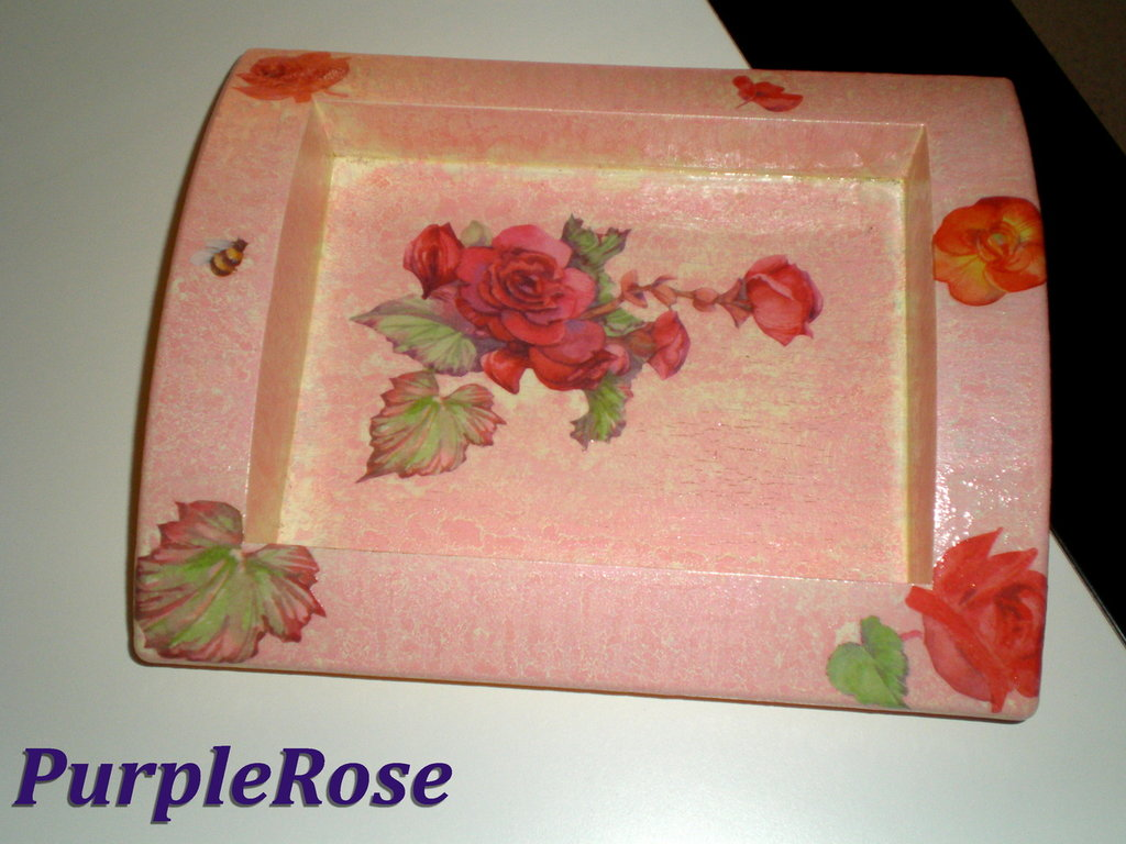 Svuota tasche découpage #1 Rose