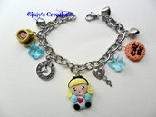 Bracciale alice e biscottini eat me in fimo
