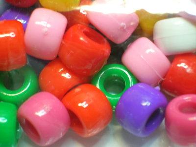 Perline plastica colorate