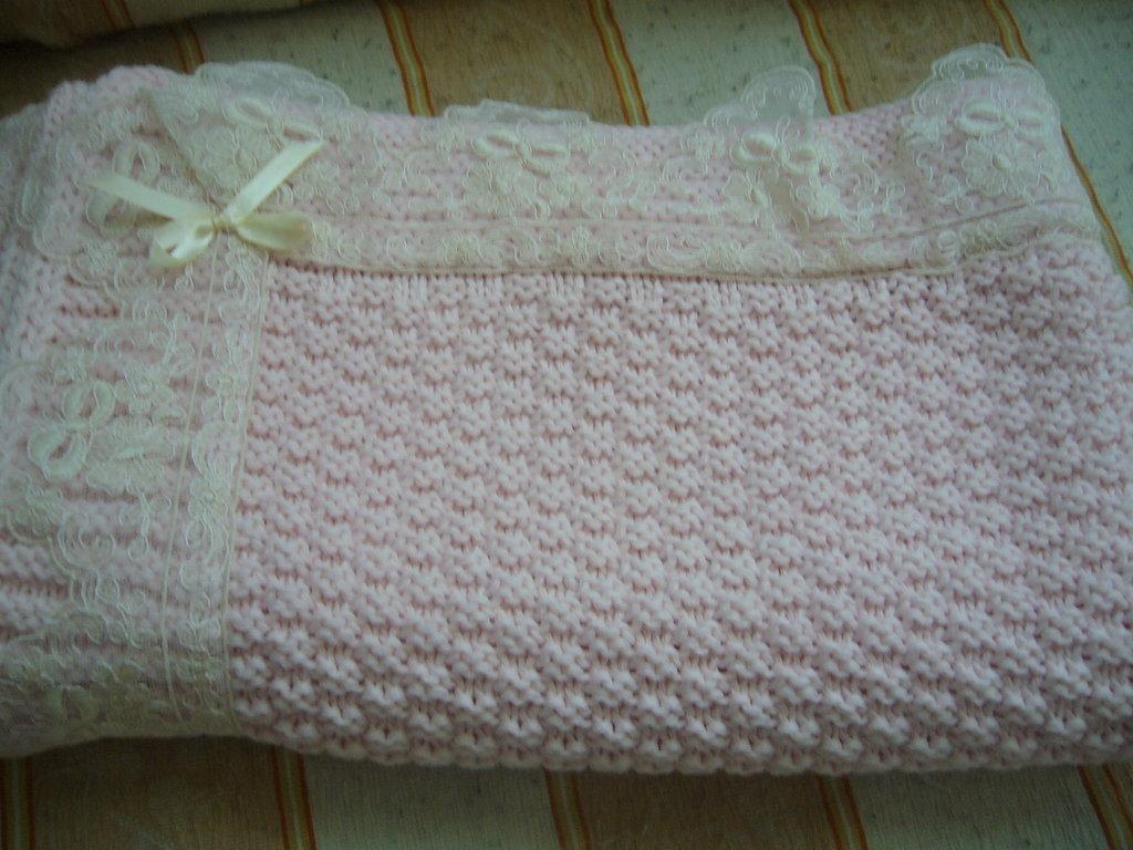 Eccezionale copertina rosa lavorata a mano per culla | su MissHobby TY69