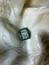 anello swarovski verde smeraldo