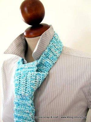 Pattern spiegazione per realizzare BIG TIE la cravatta a crochet uncinetto - idea regalo