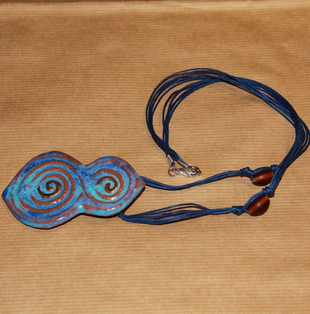 "Collana ""blue tribal"""