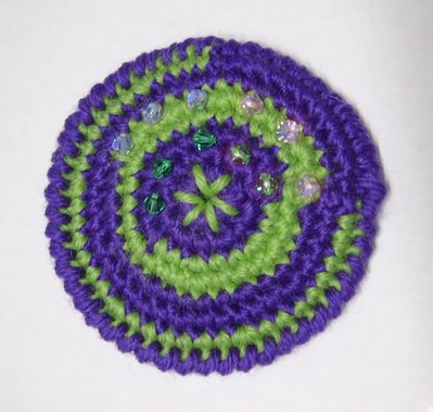 Spilla Violet, Acid Green and Swarovski