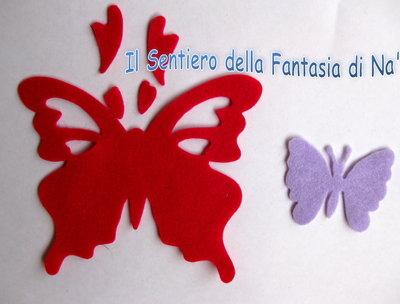 2 Farfalle pannolenci fustellate