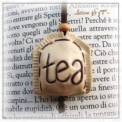 """Tea Bookmark"" - segnalibro in fimo"
