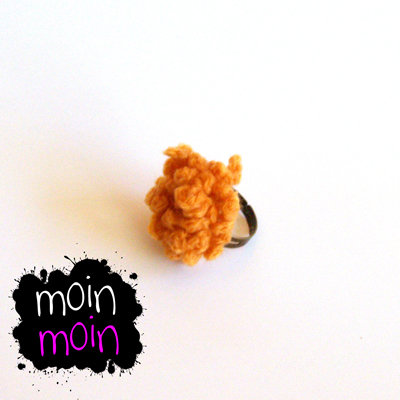 Anillo crochet naranja