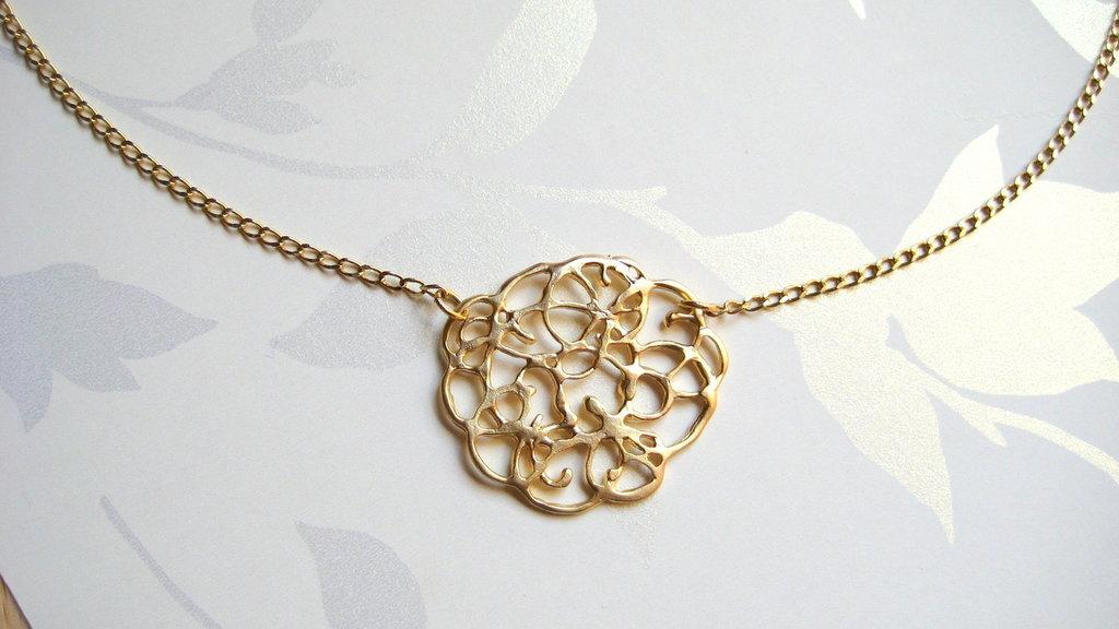 Collana placcata oro- gioielli fatti a mano