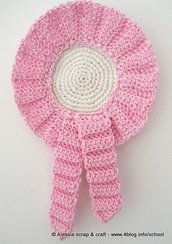 Pattern spiegazione per realizzare la coccarda - fiocco nascita a crochet uncinetto - idea regalo
