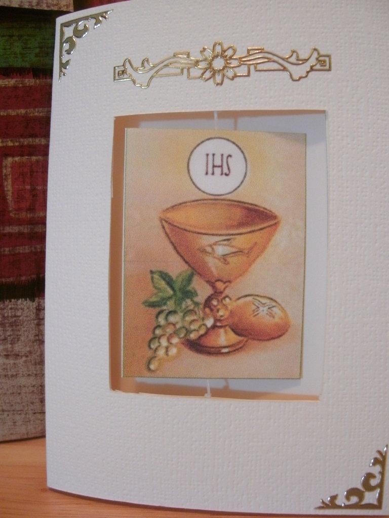 Biglietto comunione cresima battesimo fatto a mano personalizzabile - SUSPENSION CARD
