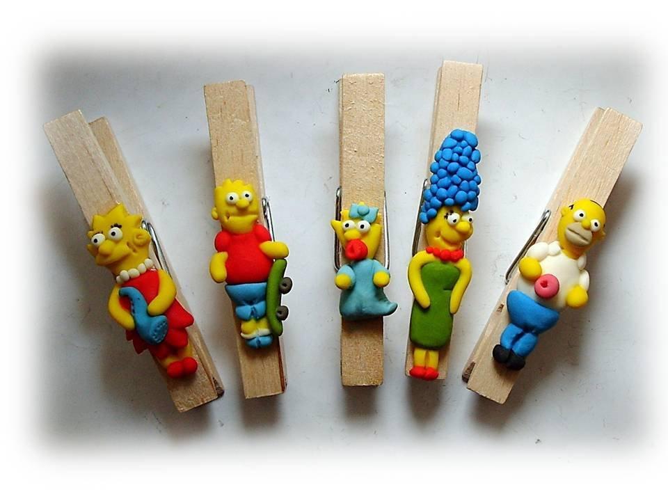 Mollette legno Simpson Bomboniera