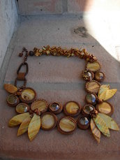 collana foglie oro