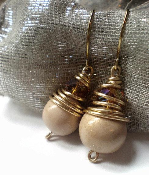 The crystal cognac earrings