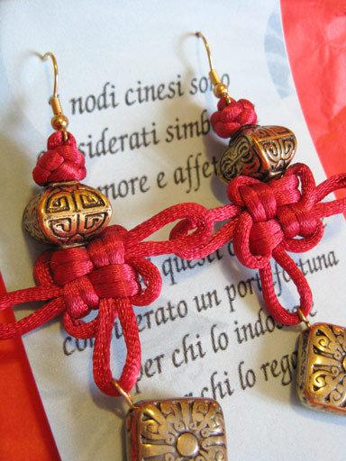 Orecchini Rosso Cina