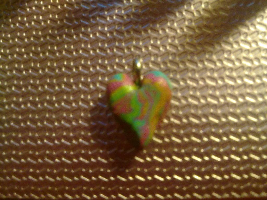 """Ciondolo """"cuore marmorizzato"""""""