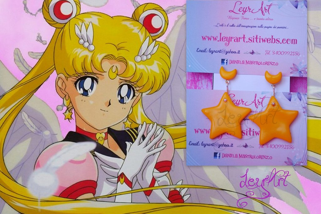 orecchini sailor moon star