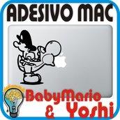 ADESIVO BABY MARIO & YOSHI - PER APPLE MAC MACBOOK PRO - SKIN