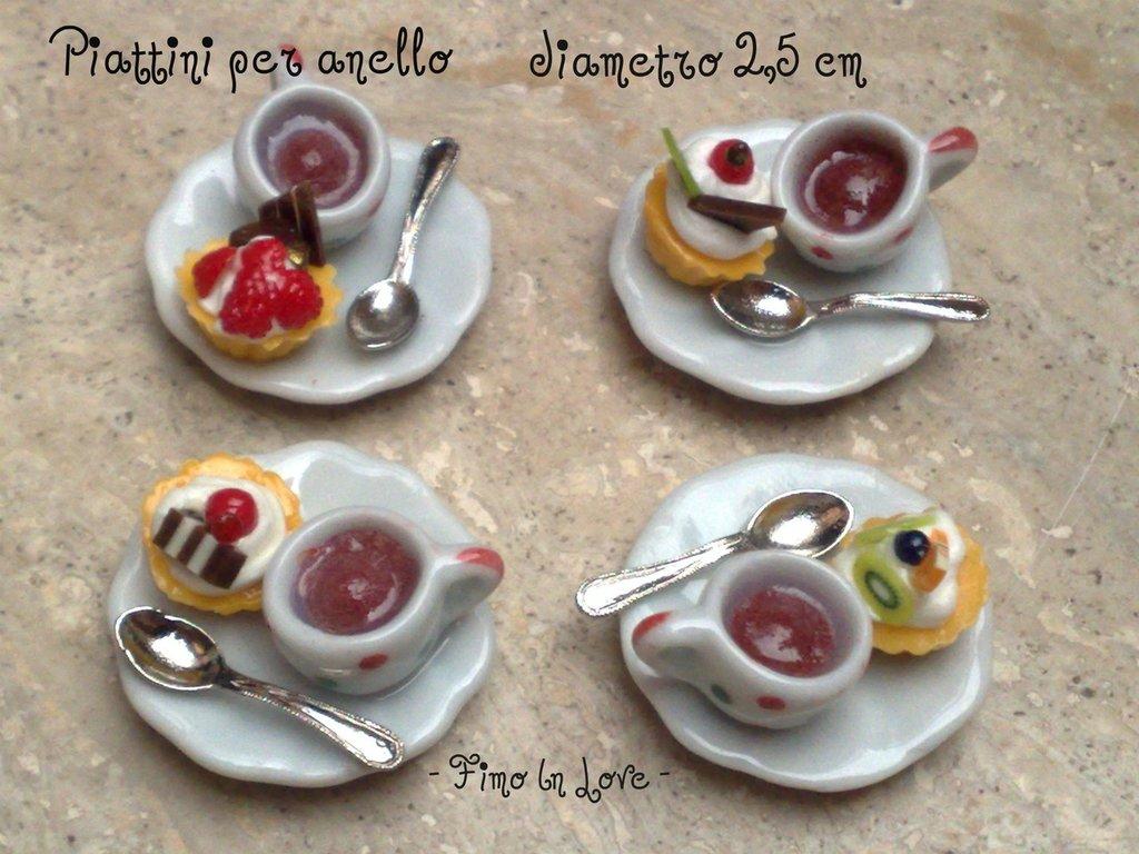 """Anello """"Pasticcino e caffè"""""""