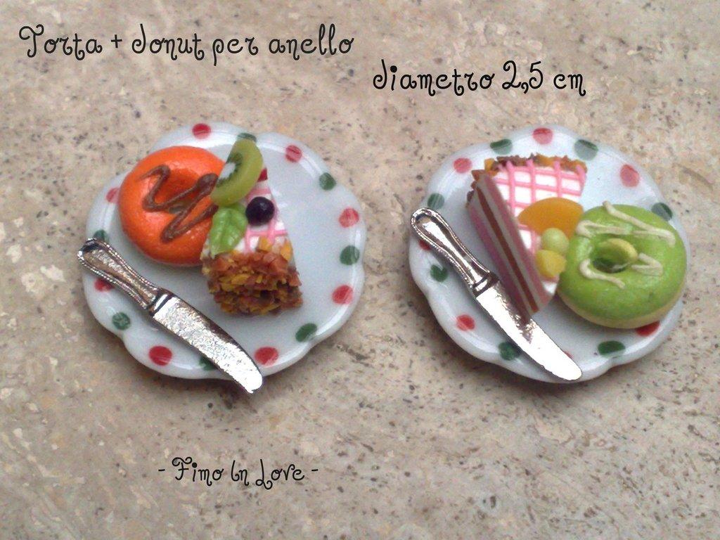 """Anello """"Torta e donut"""""""