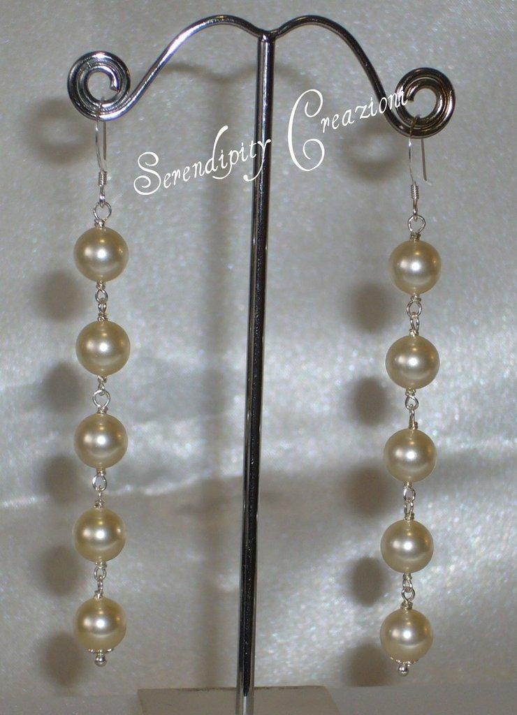 Orecchini in Argento e Perle Swarovski