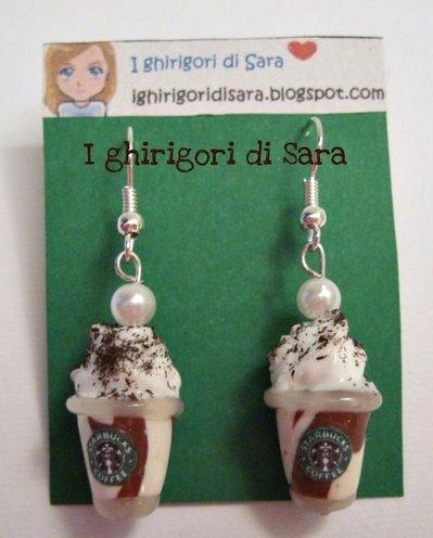 """Orecchini """"Starbucks coffee cioccolatosi"""""""