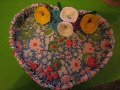 svuotatasche con fiori