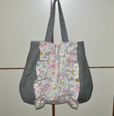 Fiori e quadri vintage trendy bag.
