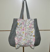 Fiori e quadri vintage trendy bag.