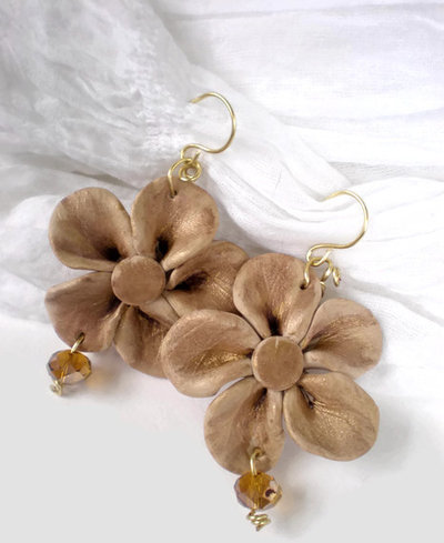The crystal flower earrings